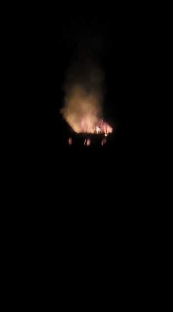 Во Львовской области горел жилой дом (Видео)