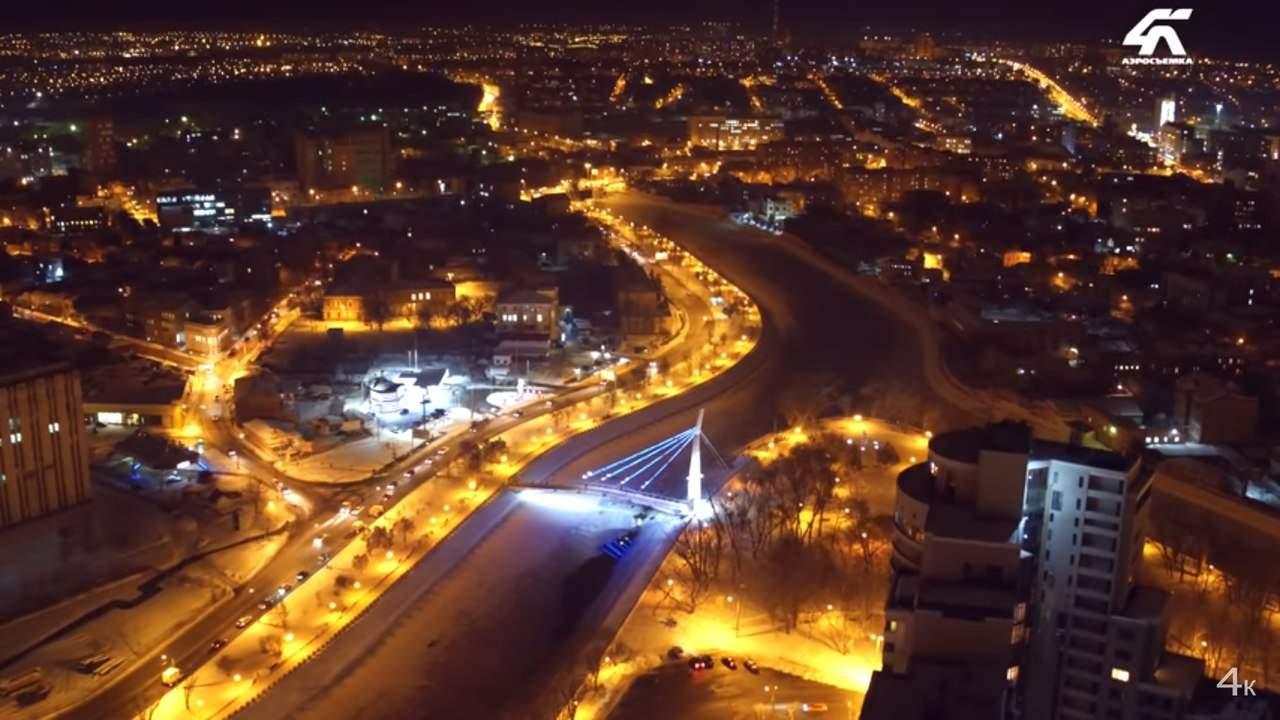 В сети появилось видео ночного Харькова с разной высоты (Видео)