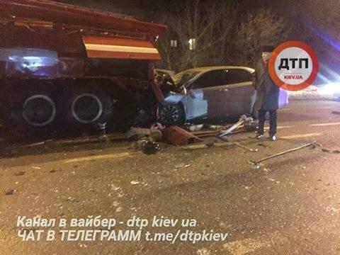 В Киеве произошло ДТП с участием пожарной машины (Фото)