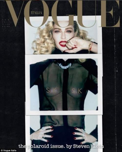 Поп-дива Мадонна в экстравагантном образе украсила обложку Vogue Italia