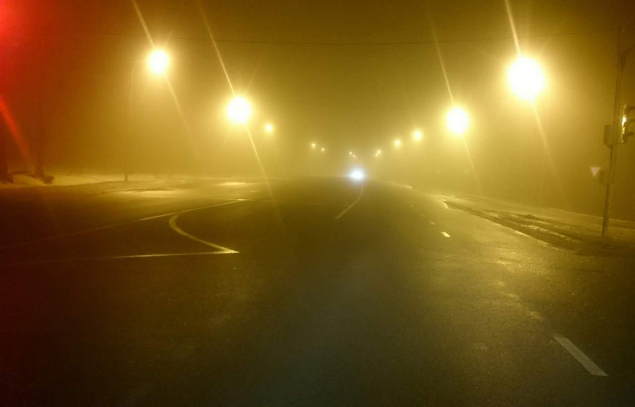 Львовскую область окутал густой туман (фото)