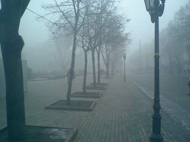 Таинственная туманная Одесса (Фото)