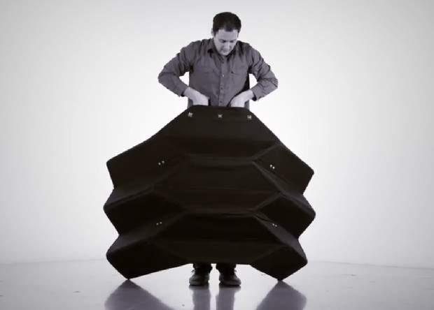 Вдохновлённые оригами: Американские разработчики представили складной щит для полицейских (видео)