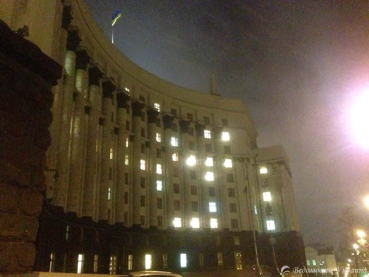Правительственный квартал в Киеве утих после дневных протестов (Фото)