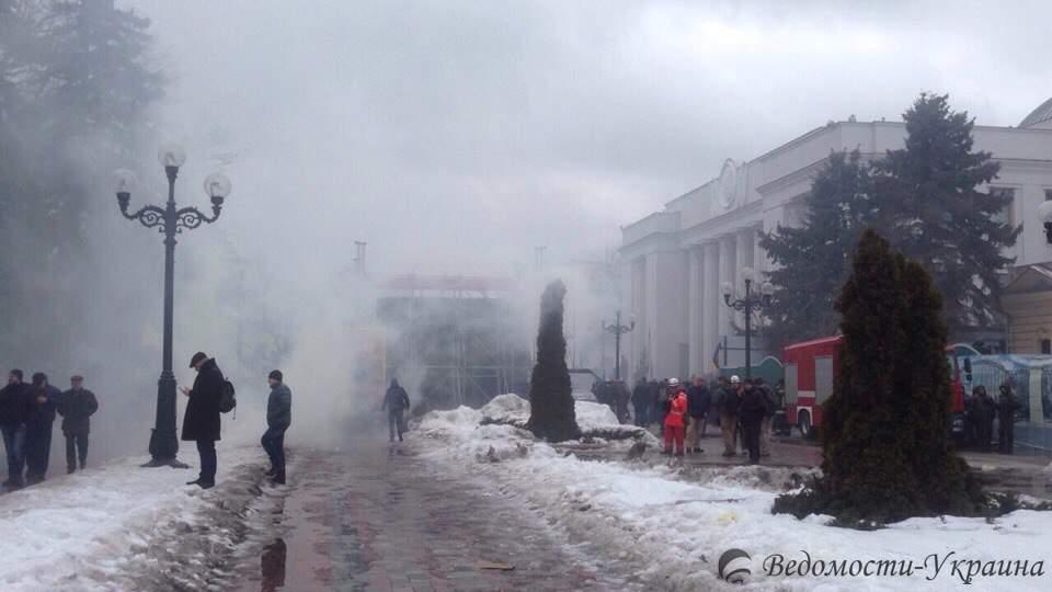 Верховная Рада в Киеве задымилась (фото)