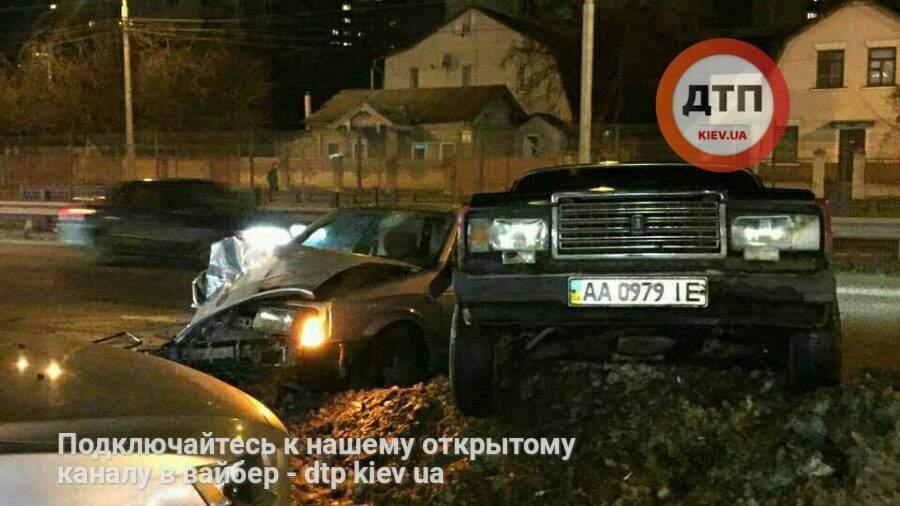 В Киеве нетрезвый водитель