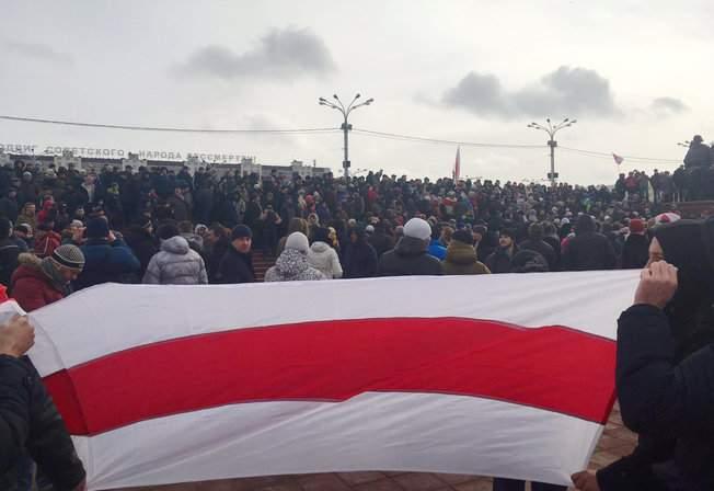 Белорусы провели ряд протестов против декрета