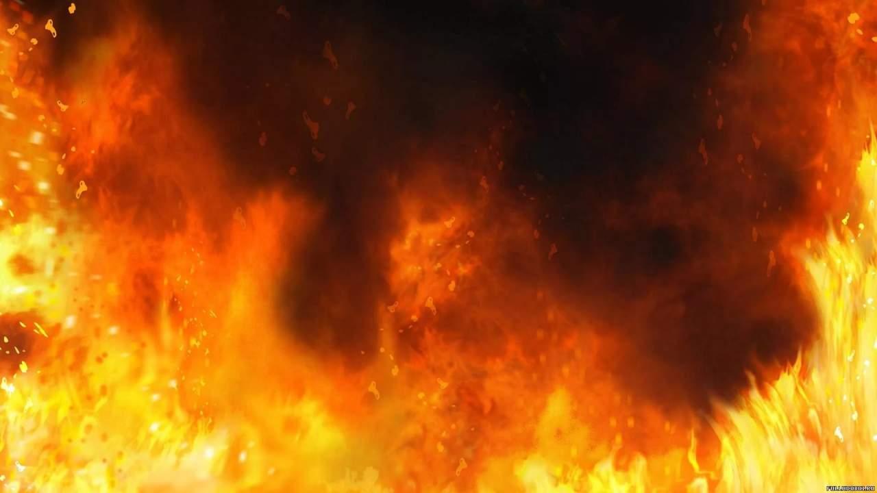 Во Львове на дороге сгорел автомобиль (Видео)