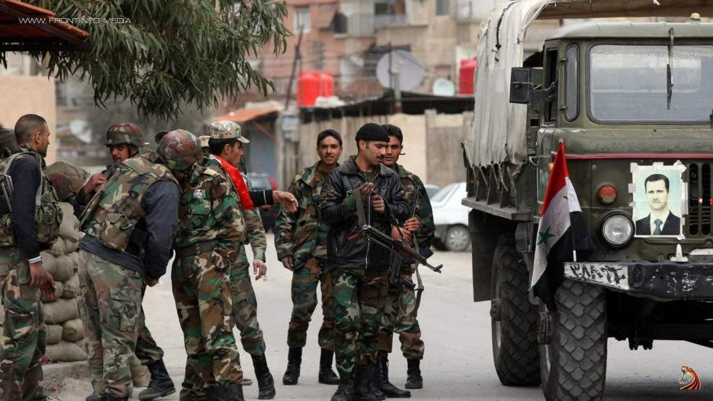 Сирийские войска  выбили боевиков  со стратегически важной высоты рядом с Пальмирой