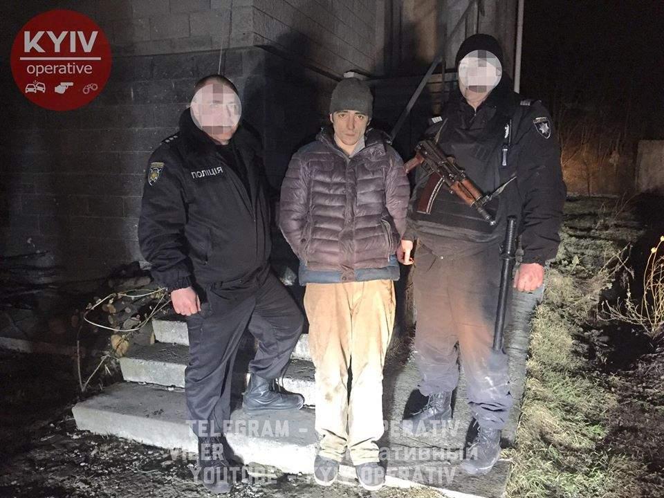 На Киевщине задержали горе-грабителя (Видео)