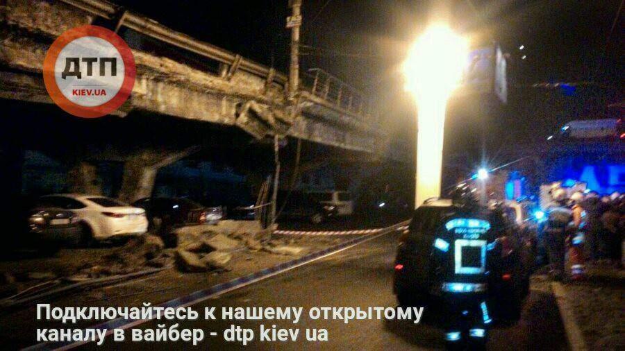 Мер Киева лично руководит работами по ликвидации аварии на Шулявском мосту  (Фото)