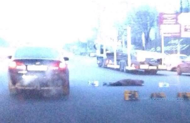В Киеве с Житомирского моста сорвалась женщина: пострадавшая погибла на месте (фото)