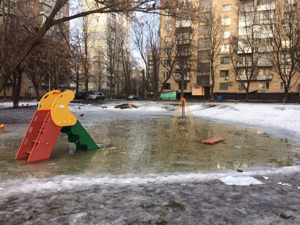 В Харькове обнаружена детская площадка