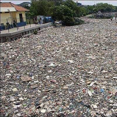 Водоёмы Индонезии признали самыми загрязненными источниками воды на планете (фото)