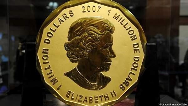 В Берлине похитители монету номиналом в один миллион долларов