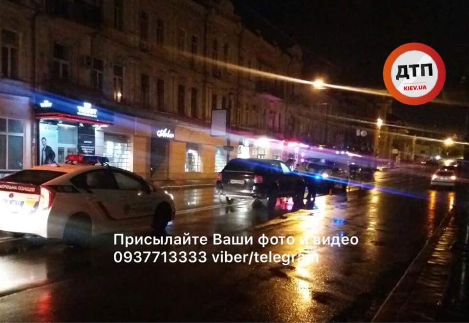В столице девушка на шикарном авто сбила пешехода