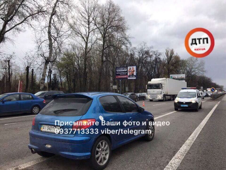На Киевщине произошло ДТП с опрокидыванием (фото)