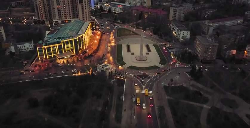 Вечерняя Одесса с высоты птичьего полёта (видео)