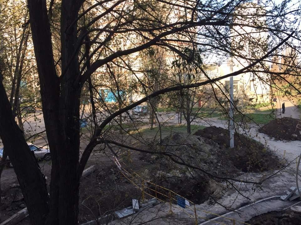 На одной из улиц Харькова нашли снаряд (Фото)