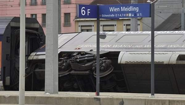 В Вене два поезда столкнулись на вокзале, девять человек получили травмы