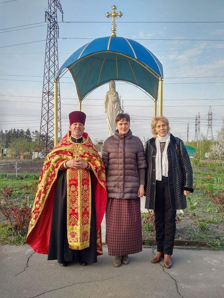 Савченко похвалилась раскрашиванием пасхальных яиц (Фото)