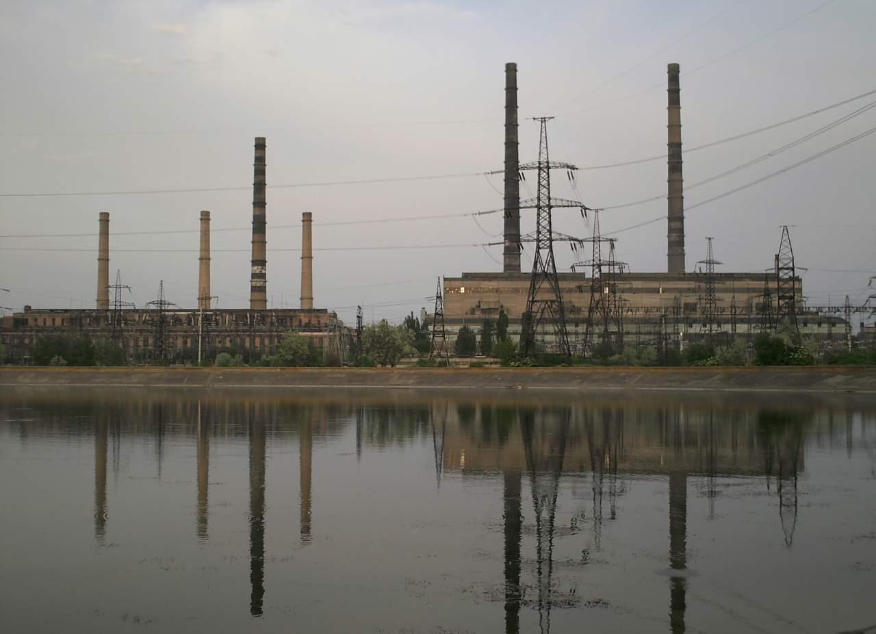 Славянская теплоэлектростанция прекратила свою работу из-за отсутствия природного топлива