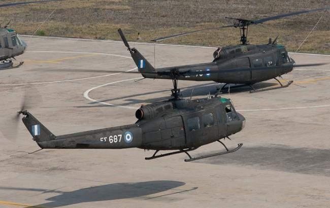 На севере Греции потерпел крушение военный вертолёт