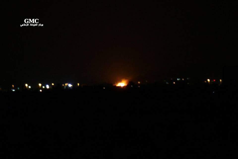 Взрыв в Дамаске был спровоцирован авиаударом ВВС Израиля