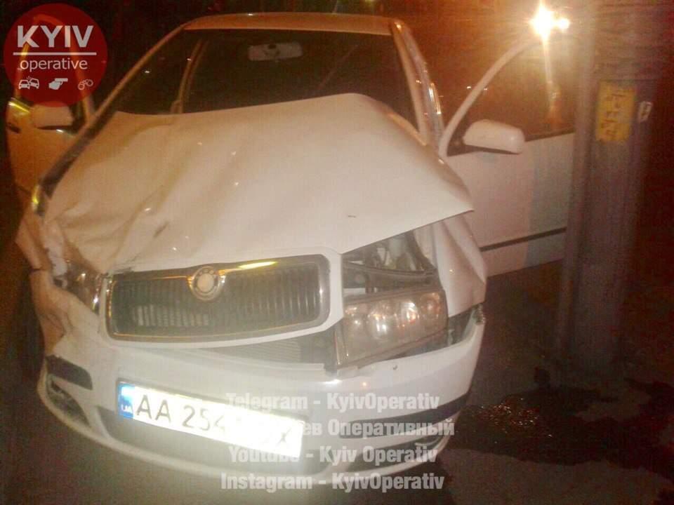 В Киеве произошло лобовое ДТП: никто не пострадал (фото)