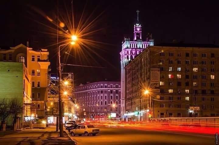 Ночной Харьков заколдовывает своими видами (Фото)