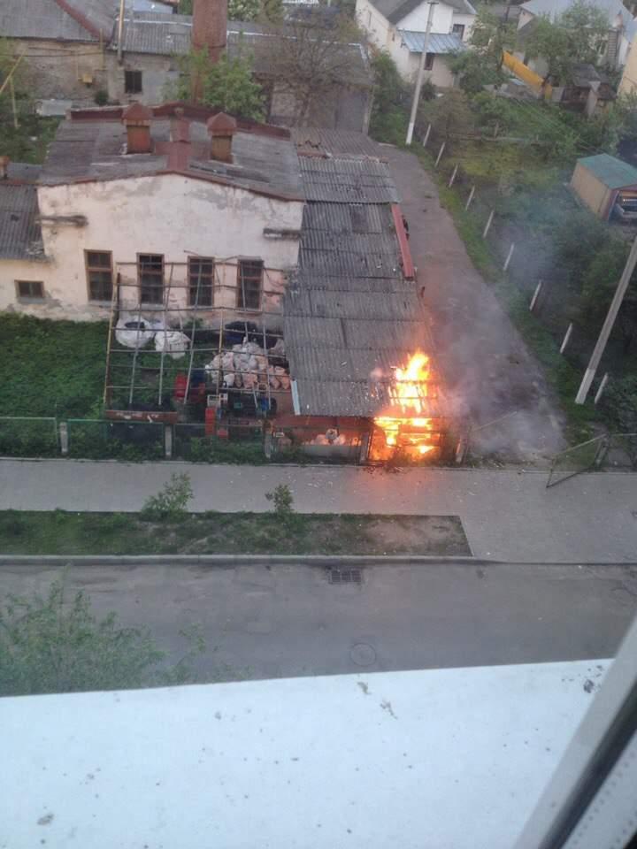 Во Львове горела котельная (фото)