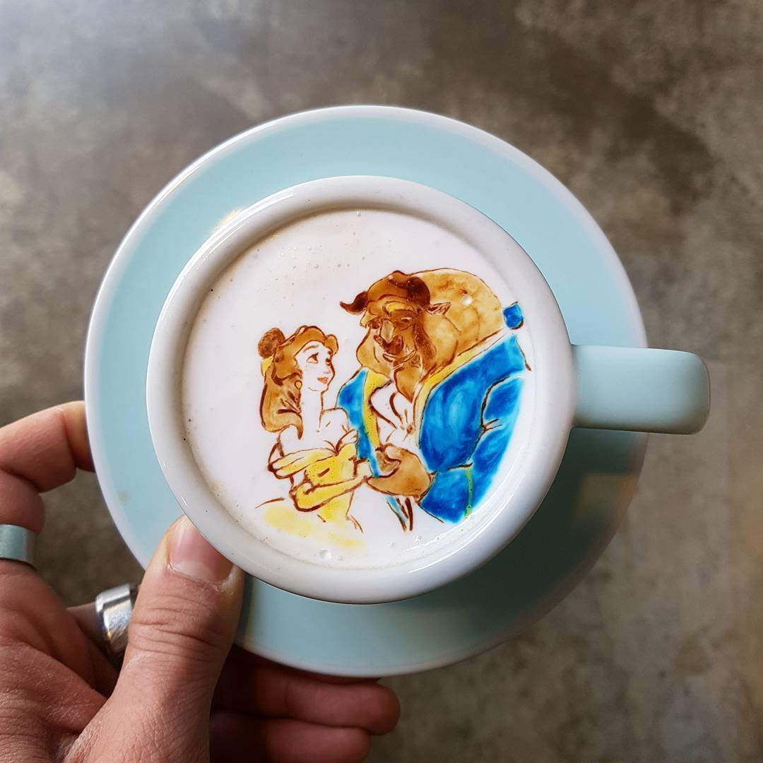 Кофе как произведение искусства: талантливый 26-летний кореец делает невероятные рисунки на обычном напитке (фото)