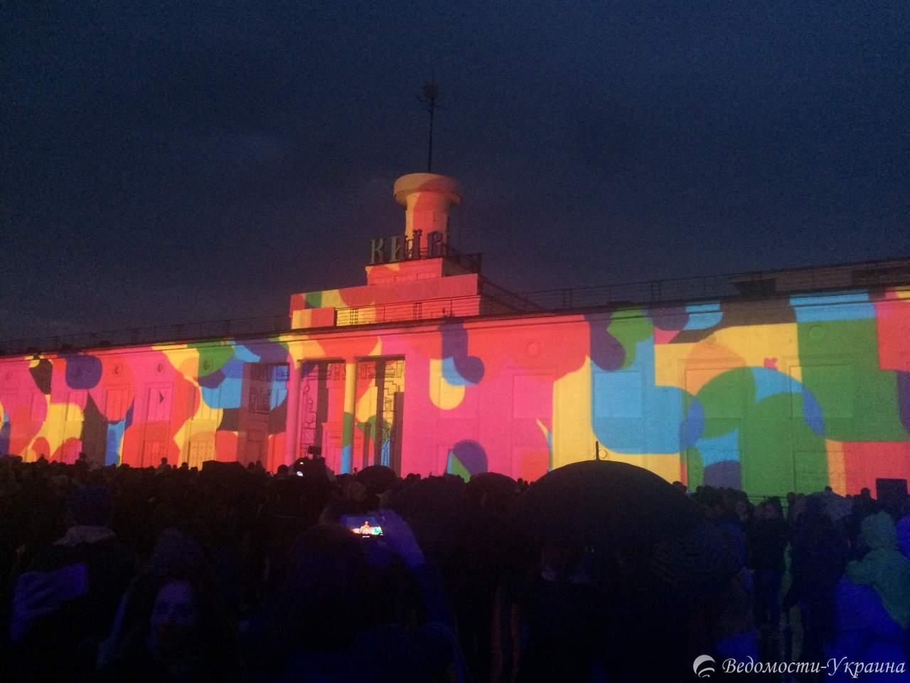Лазерное шоу в Киеве с высоты птичьего полета (видео)