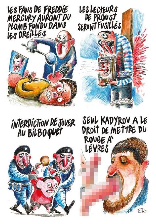Charlie Hebdo опубликовал карикатуру на президента Чеченской Республики (фото)