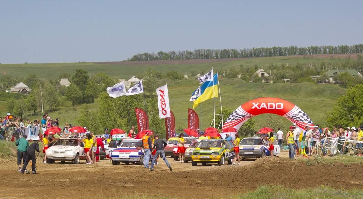 Чемпионат Украины по автомобильному кроссу  с высоты птичьего полета (Видео)
