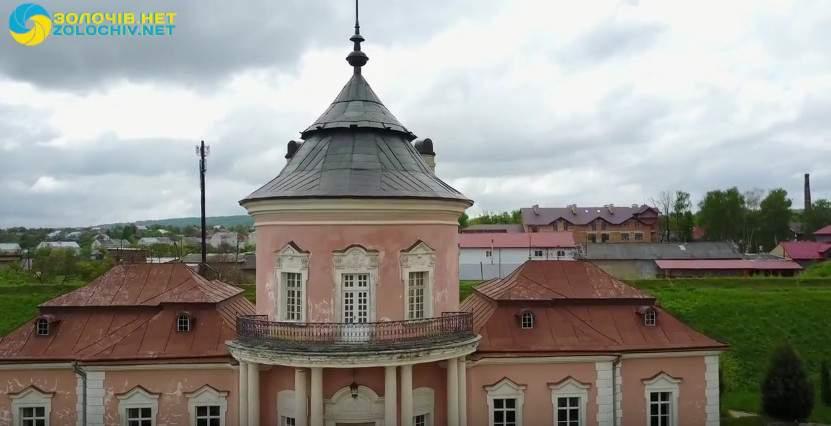 Золочевский замок на Львовщине с высоты птичьего полёта (видео)