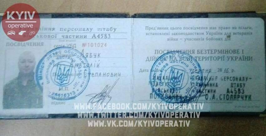 Прикрываясь воинами АТО: в Киеве мужчина украл шоколадки и пытался оправдаться фальшивым удостоверением (фото)