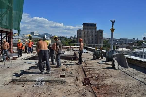 Как проходит реконструкция Дома профсоюзов в Киеве (Фото)
