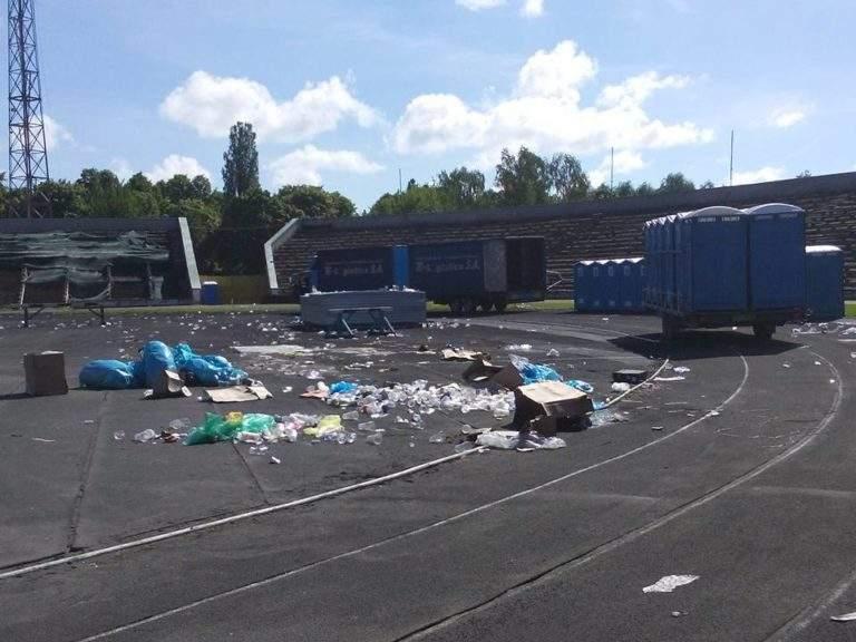 Последствия концерта группы Океан Эльзы в Ровно (Фото)
