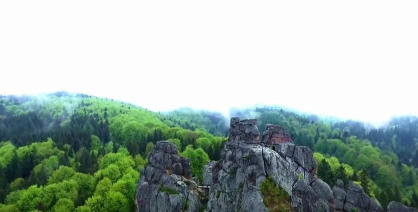 Тустань на Львовщине с высоты птичьего полёта (видео)