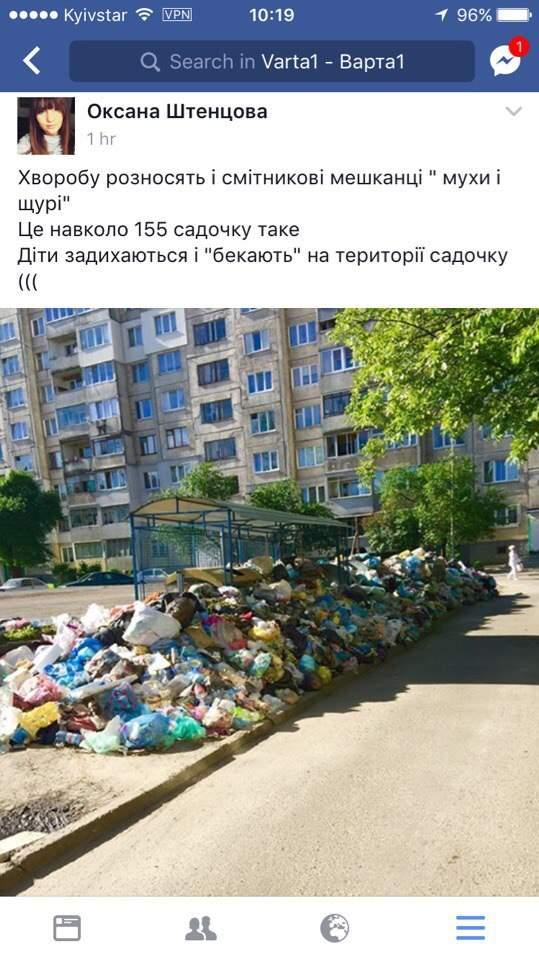 Грязь, вонь, баррикады из отходов: Львов превратился в мусорный отстойник (фото)