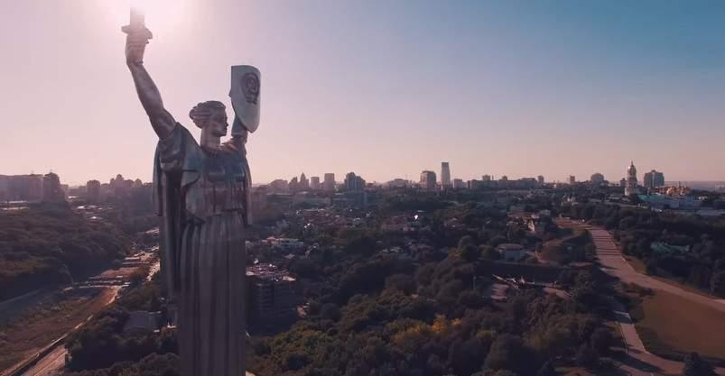 Удивительные места Киева с высоты птичьего полёта (видео)