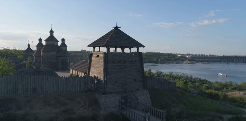 Музей Запорожская Сечь с высоты (видео)