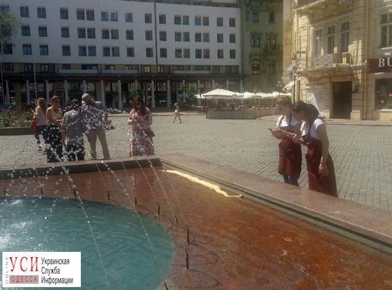 В Одесском фонтане заметили огромного питона (Фото)