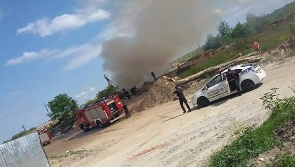Масштабный пожар во Львове. Горит мусор (Фото)