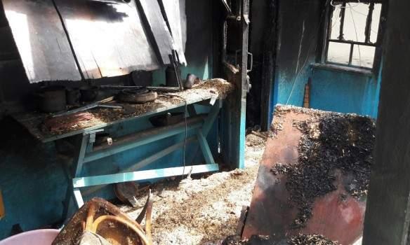 Под Винницей мужчина сгорел вместе с домом (Фото)