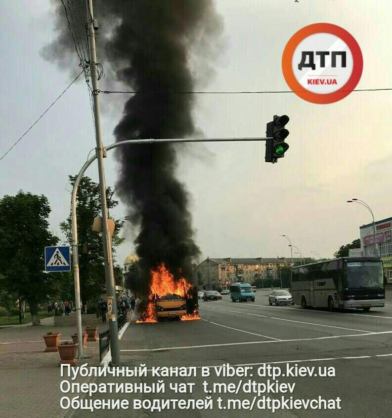 В столице взорвалась маршрутка (Фото)