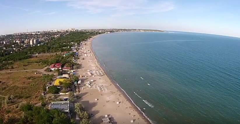 Вечерние берега Одессы с высоты птичьего полёта (видео)