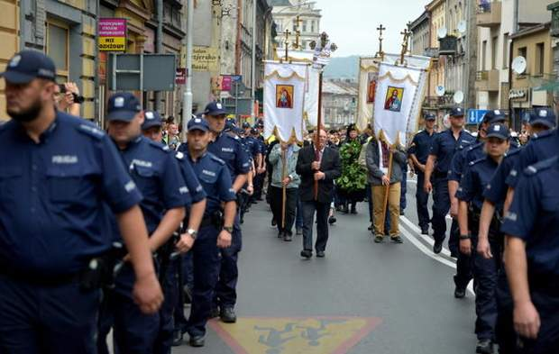 В Польше состоялась акция чествования украинцев-защитников страны (фото)