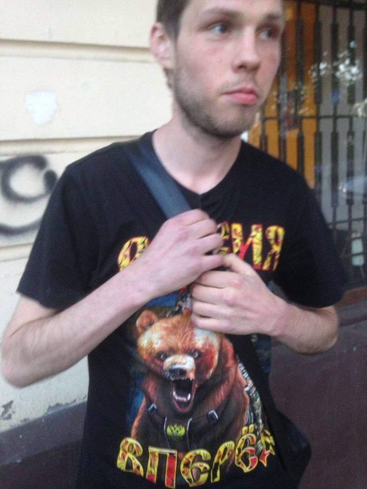 Одесситу, который гулял в футболке с надписью «Россия вперед», досталось от